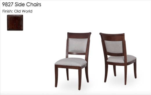 9827 Side Chairs finished in Old World
