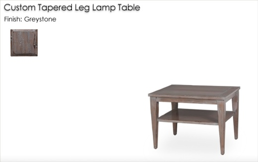 Custom Tapered Leg Table finished in Greystone