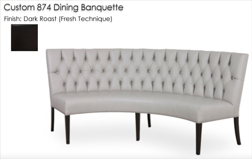 Custom 874 Dining Banquette finished in Dark Roast