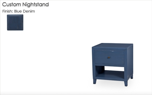 Custom Nightstand finished in Blue Denim