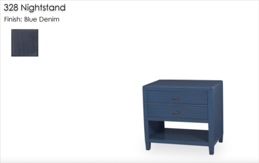 328 Nightstand finished in Blue Denim