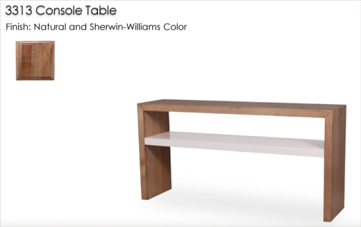 3313 Console Table finished in Natural and a Sherwin-Williams Color