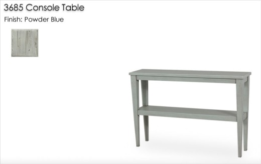 3685 Console Table finished in Powder Blue