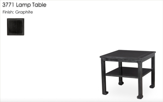 3771 Chow Leg Lamp Table finished in Graphite