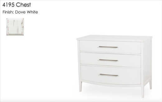 4195 Chest finished in Dove White