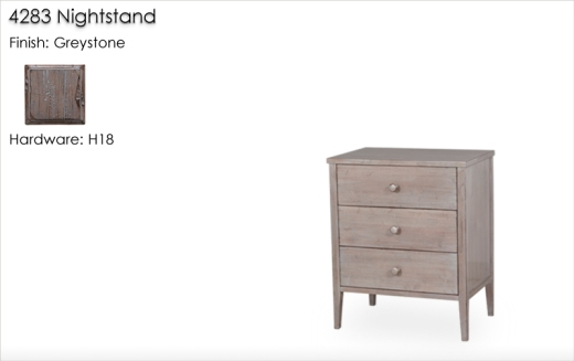 4283 Nightstand finished in Greystone