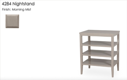 4284 Nightstand finished in Morning Mist