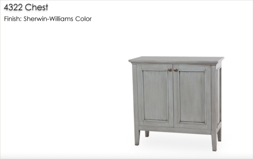 4322 Chest finished in a Sherwin-Williams color