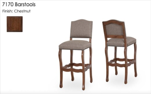 7170 Barstools finished in Chestnut