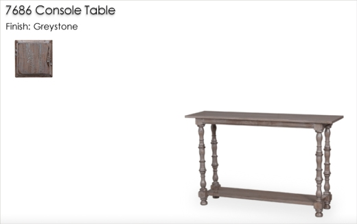 7686 Console Table finished in Greystone