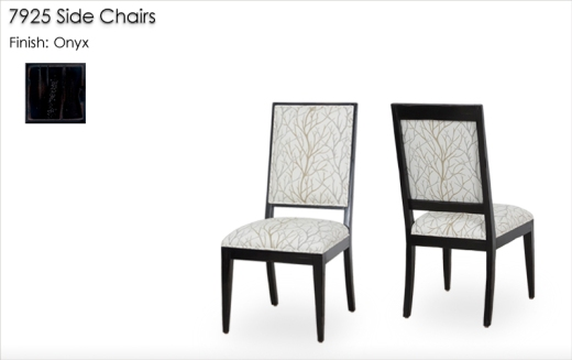 7925 Side Chairs finished in Onyx