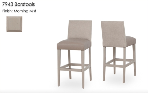 7943 Barstools finished in Morning Mist