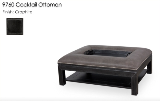 9760 Cocktail Ottoman finished in Graphite