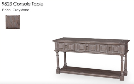 9823 Console Table finished in Greystone