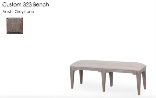Custom 323 Bench finished in Greystone