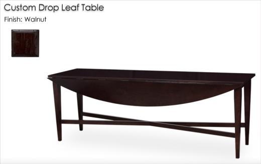 Custom Drop Leaf Table finished in Walnut