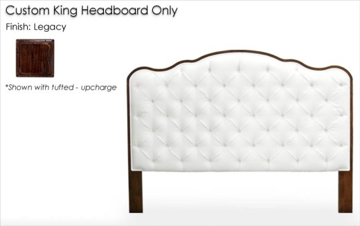 Custom King Headboard Only finished in Legacy