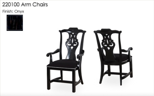 220100 Arm Chairs finished in Onyx