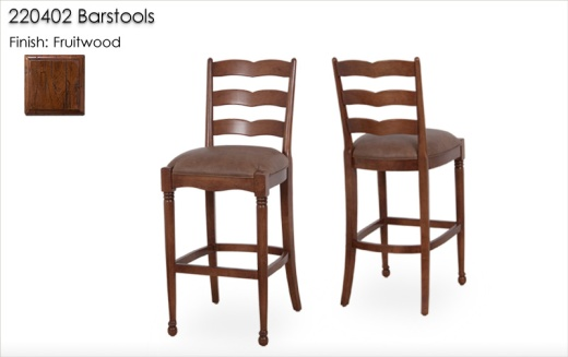 220402 Barstools finished in Fruitwood