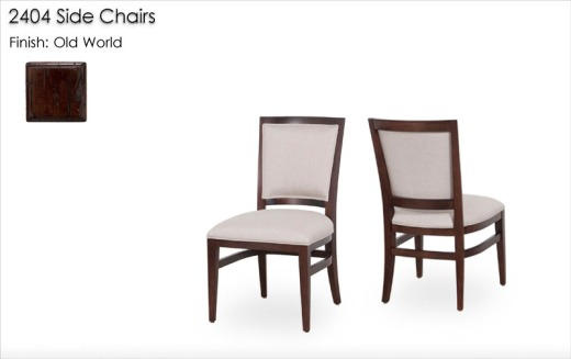 2404 Side Chairs finished in Old World