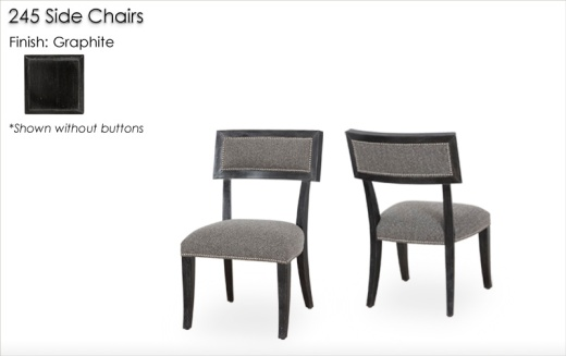 245 Side Chairs finished in Graphite