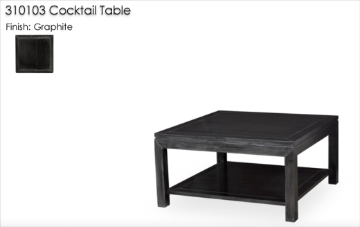 310103 Cocktail Table finished in Graphite
