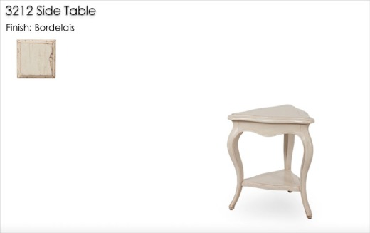 3212 Side Table finished in Bordelais