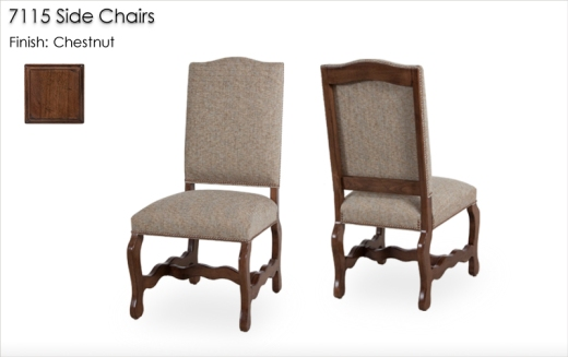 7115 Side Chairs finished in Chestnut