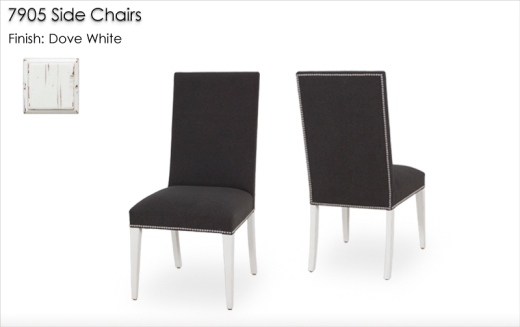 7905 Side Chairs finished in Snowflake
