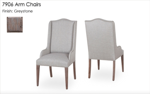 7906 Arm Chairs finished in Greystone