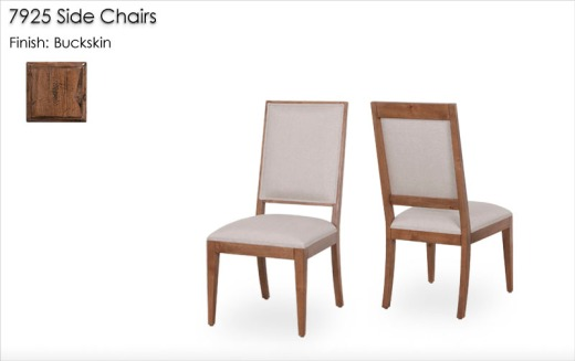 7925 Side Chairs finished in Buckskin