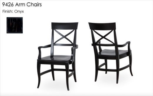 9426 Arm Chairs finished in Onyx
