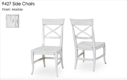 9427 Side Chairs finished in Marble