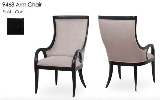 9468 Arm Chair finished in Coal