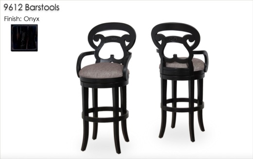 9612 Barstools finished in Onyx