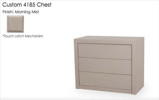 Custom 4185 Chest with touch latch finished in Morning Mist