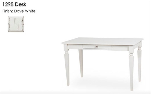 1298 Desk finished in Dove White