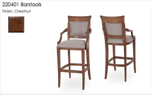 220401 Barstools finished in Chestnut