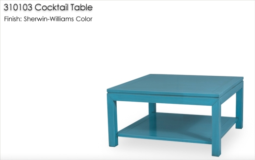 310103 Cocktail Table finished in a Sherwin-Williams color