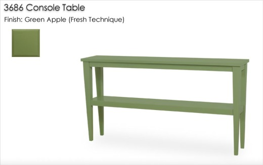 3686 Console Table finished in Green Apple