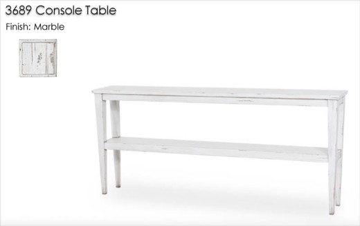 3689 Console Table finished in Marble