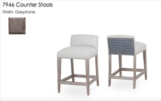 7946 Counter Stools finished in Greystone