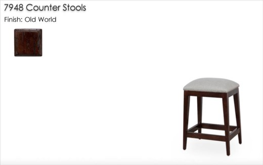 7948 Counter Stools finished in Old World