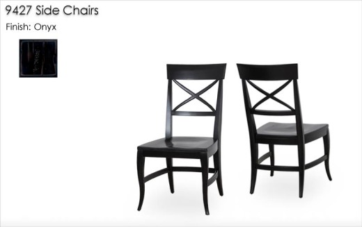 9427 Side Chairs finished in Onyx
