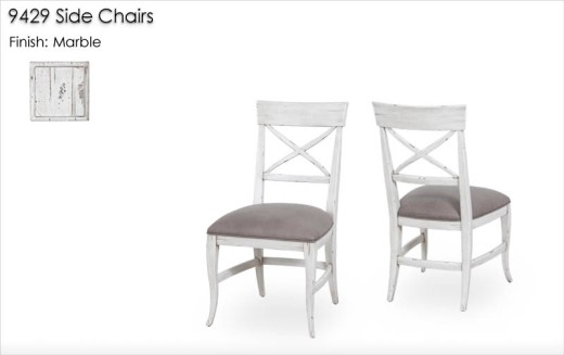9429 Side Chairs finished in Marble