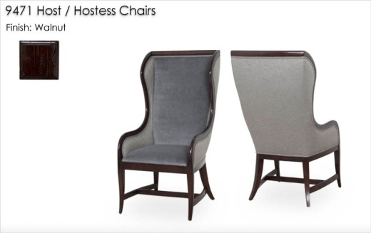 9471 Host / Hostess Chairs finished in Walnut