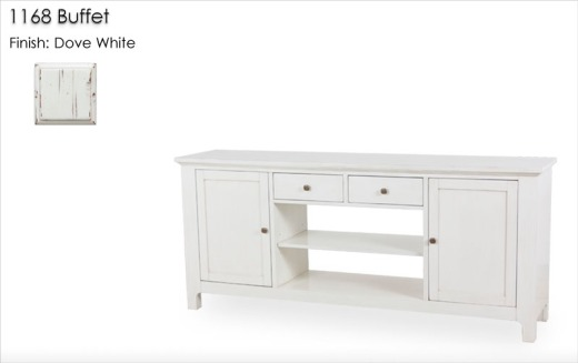 1168 Buffet finished in Dove White