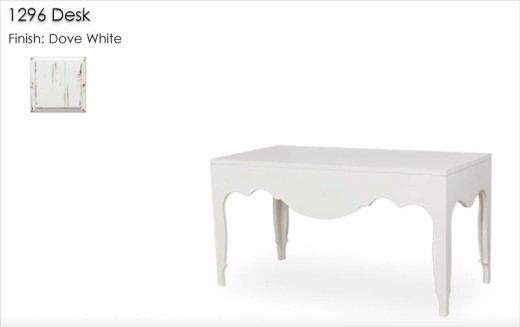 1296 Desk finished in Dove White