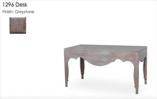 1296 Desk finished in Greystone