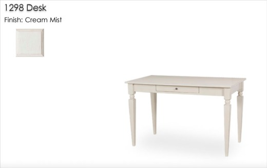 1298 Desk finished in Cream Mist